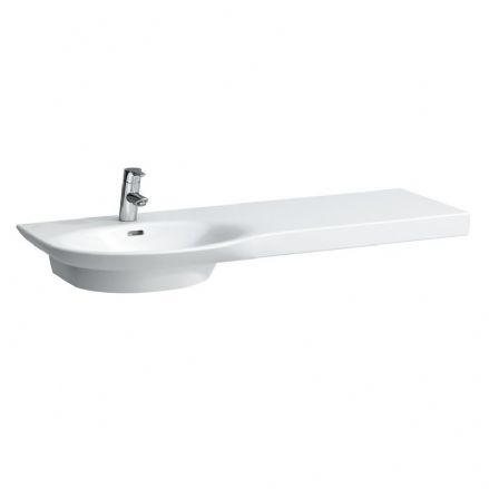 816706 - Laufen Palace 1200mm x 460mm Washbasin (Right Shelf) - 8.1670.6